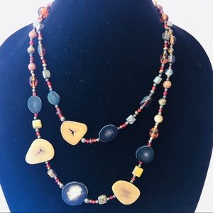 Vintage good/stones/crystals necklace